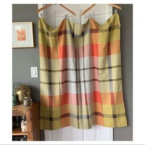 Vintage Simtex plaid tablecloth 3083